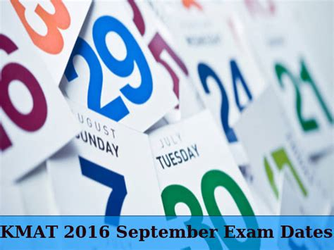 Mat Important Dates by Kmat September 2016 Dates Careerindia