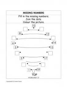 missing number worksheets for kindergarten