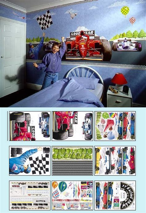 race car wall mural wall stickers murals and decor by wallnutz