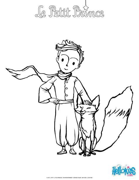coloriages le petit prince et le renard fr hellokids com