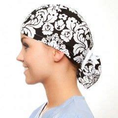 ponytail surgical scrub  hat pattern tutorial rough