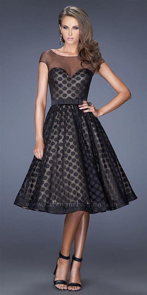swing cocktail dress polka dots whatz the fashion