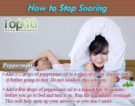 how to stop snoring top 10 home remedies