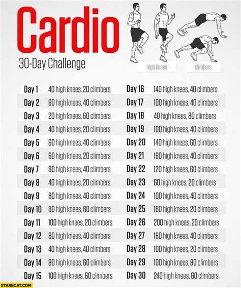 cardio 30 day challenge high knees climbers starecat