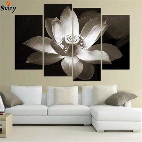 panel modern wall art home decoration printed flower oil