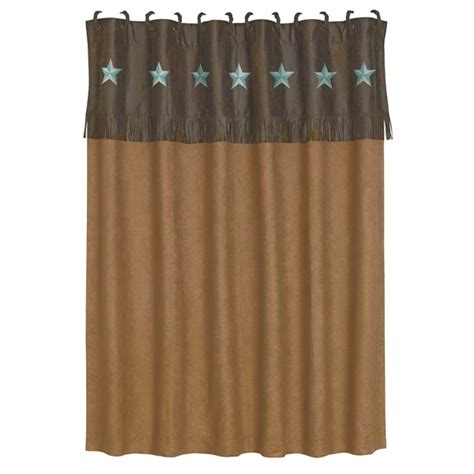 western shower curtains laredo star western shower curtain turquoise