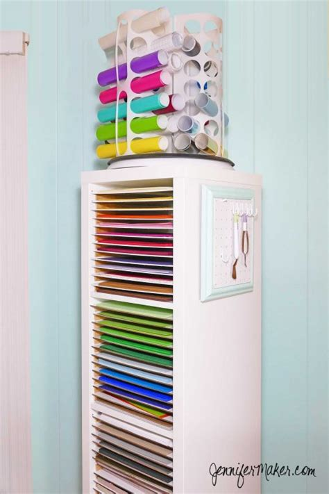 Craft Paper Organizer - 12x12 vertical scrapbook paper storage organizer diy
