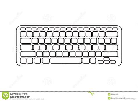 keyboard layout vector vector portable computer keyboard stock illustration