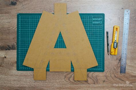 Pisau X Acto diy marquee letter light the