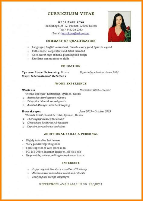 Sample Beginner Acting Resume by Curriculum Vitae Examples Uk 6 Curriculum Vitae Adolescent