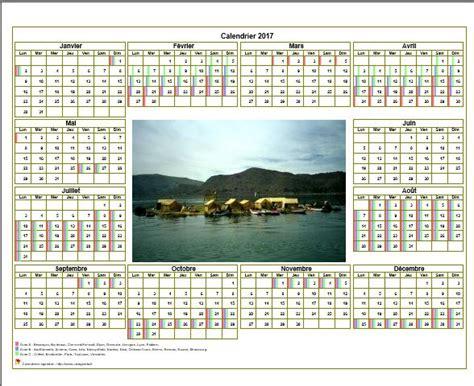 Exemple Calendrier 2017 Calendrier 2017 Avec Vacances Scolaires
