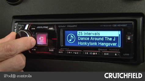 Alpine Cde 140e Like New alpine cde hd149bt car cd receiver display and controls