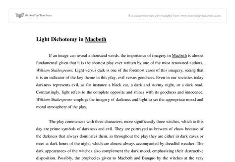 light and dark themes in macbeth light dichotomy in macbeth international baccalaureate