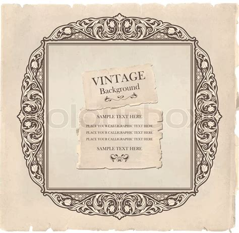 ornate vintage template background vector 04 over vintage background oldfashioned ripped grungy paper
