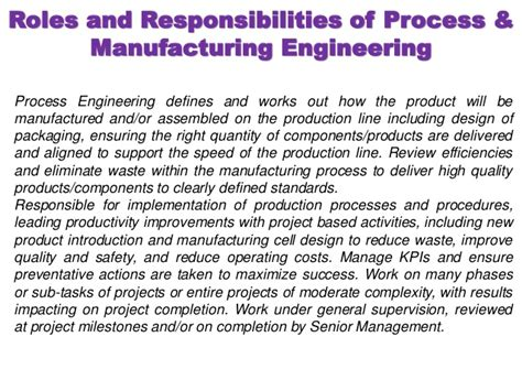 design engineer kra process and manufacturing engineering