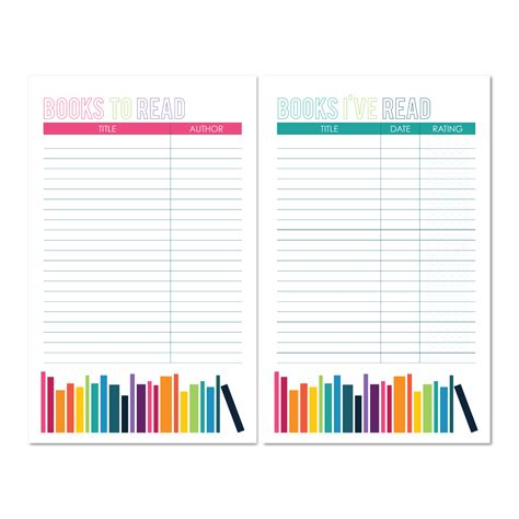 free printable planner book book lists printable book to read and books i ve read