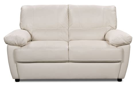 white genuine leather sofa tess genuine leather loveseat white the brick