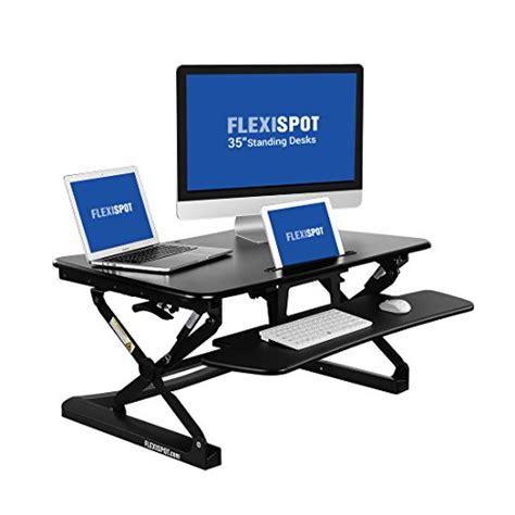 the wide height adjustable standing desk flexispot 35 quot wide platform height adjustable standing