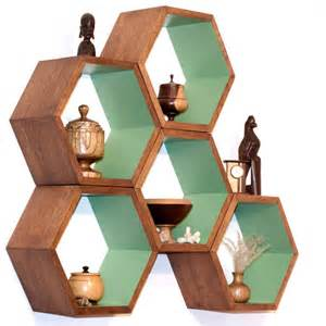Honeycomb Bookshelves Storage Shelves Honeycomb Shelving Wood Floating Hexagon