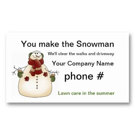 snow removal business card templates 1000 images about snow removal business cards on