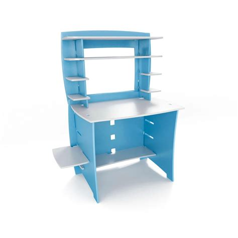blue and white desk accessories blue and white maple wood multiple desk with 8 shelving