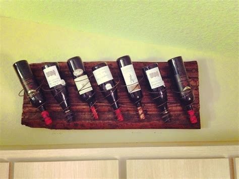 Diy Wall Mounted Wine Rack by Diy Rustic Wall Mount Wine Rack Made From A Pallet With