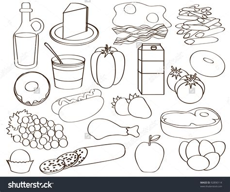 food clipart black and white food groups black and white clipart