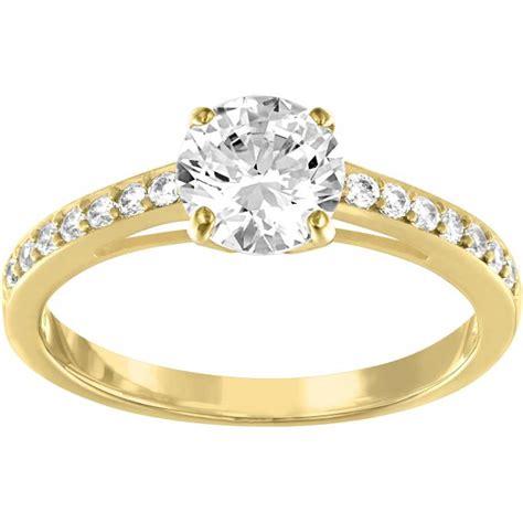 bijoux femme swarovski bague swarovski attract gold bague dor 233 e cristaux femme sur bijourama r 233 f 233 rence des bijoux