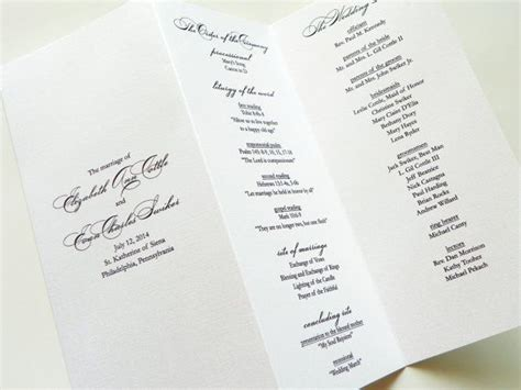 layout of a wedding order of service 17 best images about wedding order of service on