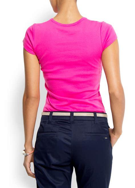 Tshirt Atticus 7 lyst mango logo tshirt in pink