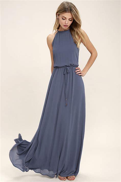 Drss 962 Flowy Roses Maxidress lovely denim blue dress maxi dress sleeveless dress