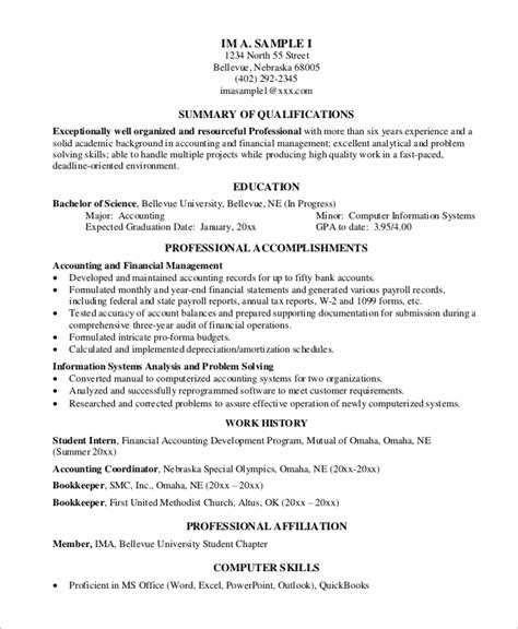 Resume Sles For Experienced Pdf Sle Professional Resume 7 Exles In Pdf