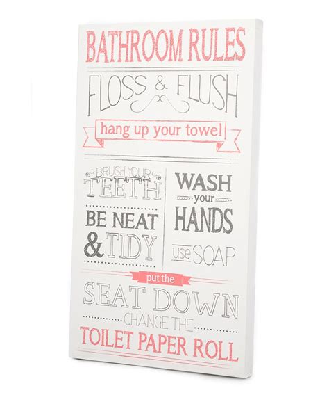 bathroom rules art pink gray bathroom rules wall art