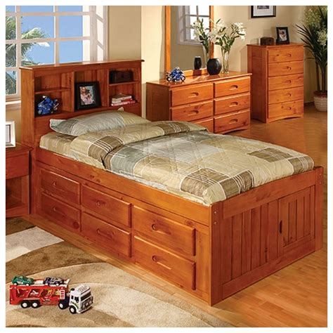 Discovery World Furniture Discovery World Furniture Honey Captains Bed With 6 Drawers