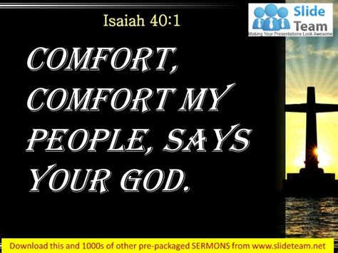 comfort comfort my people 0514 isaiah 401 my people says your god power point church