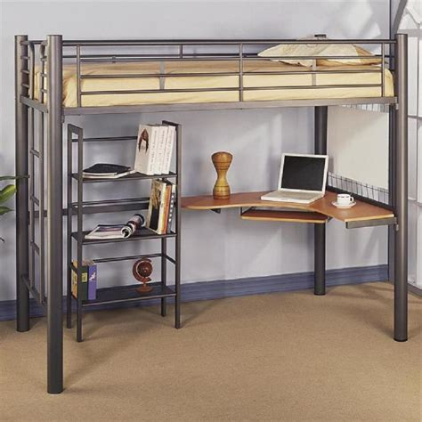 size metal loft bed storage creative size