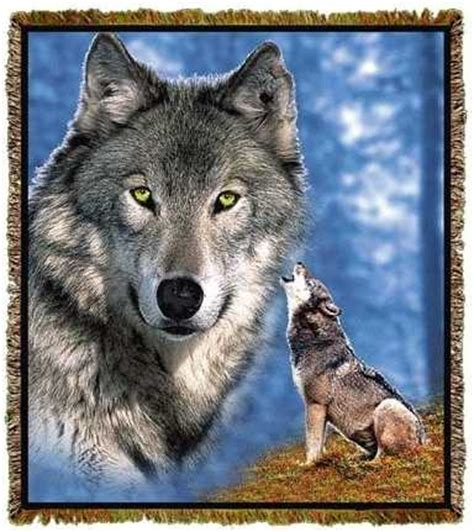 wolf blanket throw tapestry afghan usa  anwo animal world