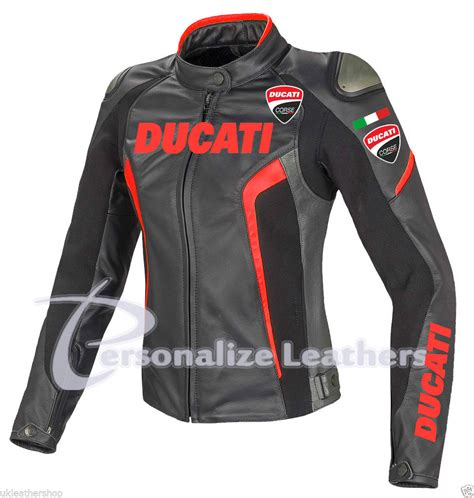womens motorcycle race ducati motorbike ladies jacket with ce armours