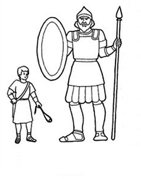 david and goliath coloring pages for toddlers the height differencies between david and goliath coloring