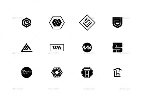 120 simple logo collection by oubdf graphicriver