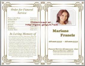 Free Obituary Program Template by Free Sle Memorial Service Program Apps Directories
