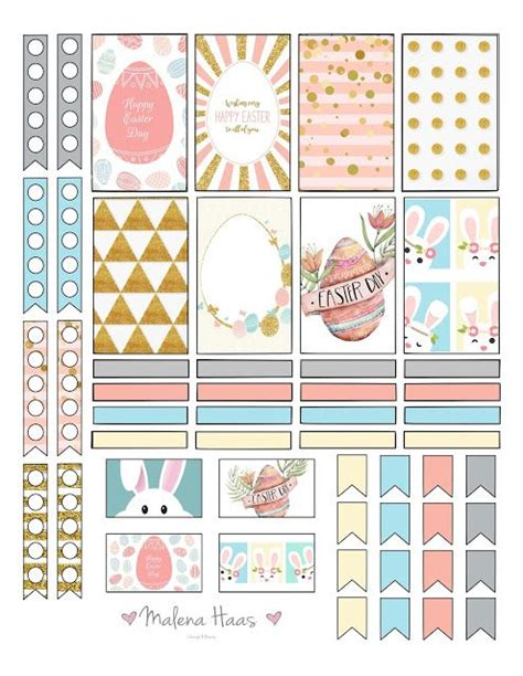 printable easter planner freebie friday happy easter planner stickers planners
