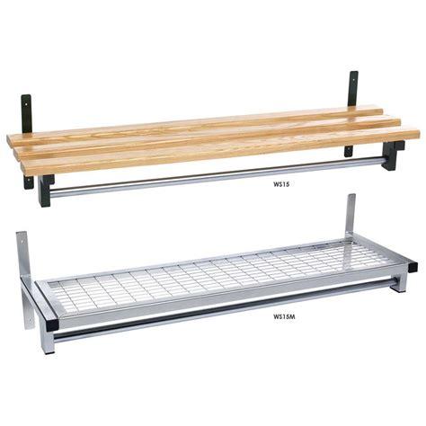 Mesh Shelving Wall Fixed Mesh Or Wood Shelf With Garment Hanging Rail