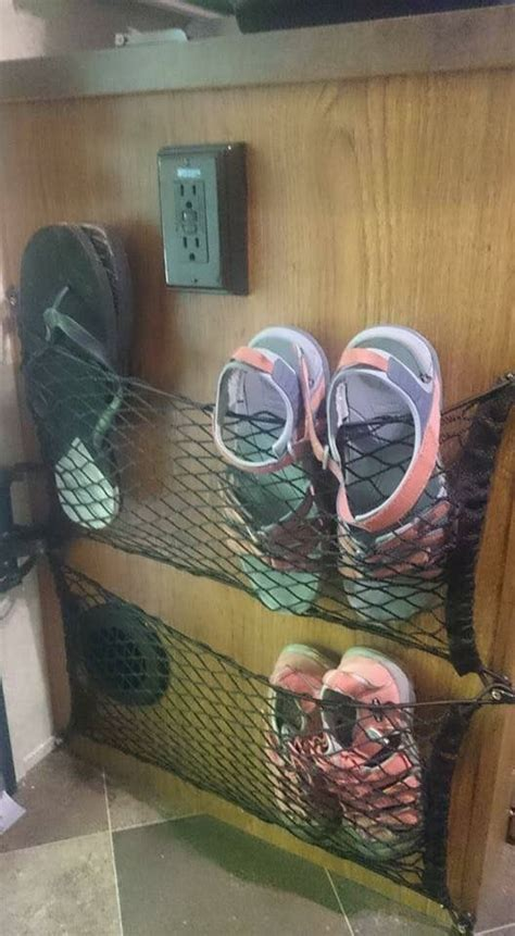 rv shoe storage happy cer rv inside storage tips a collection of