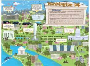 washington dc map of attractions disney inspired crafts and activities for trips