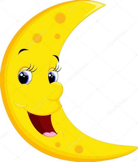 imagenes de sol y luna animadas sonrientes de dibujos animados de luna archivo im 225 genes