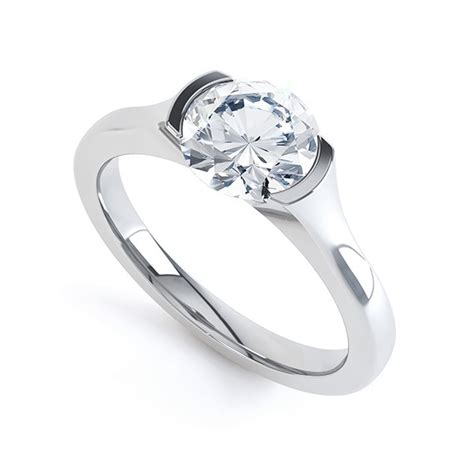classic serendipity 34 in wide modern open part bezel solitaire engagement ring