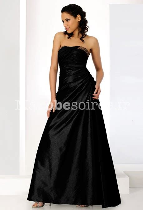 Robe De Bal Noir Longue - robe de soir 233 e longue chocolat bustier fronc 233 jupe 233 vas 233 e