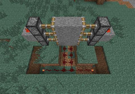 create  hidden piston door  minecraft