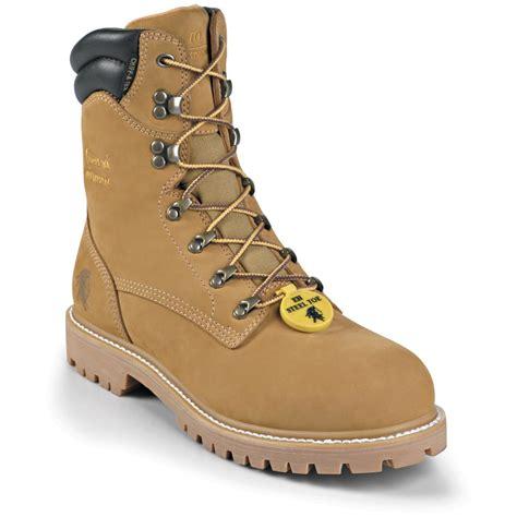 steel toe mens work boots s chippewa 174 steel toe waterproof boots 201541 work